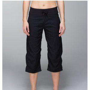 lululemon athletica studio crop pants black size 8